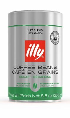 illy Whole Bean Coffee, Decaffeinated, 8.8 Ounce