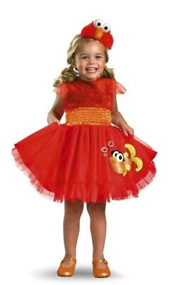 Girls Sesame Street Elmo Dress Infant/Toddler 3T-4T Costume TuTu Dorothy Fish - 3t Dorothy Costume