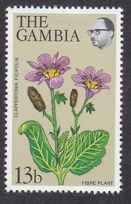 Gambia 1977 - Flowers SG376a Pale Olive Background Mint lightly hinged (A11B)