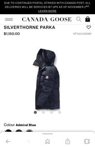 100% AuthenticBrand new Canada Goose Silverthorne parka size M