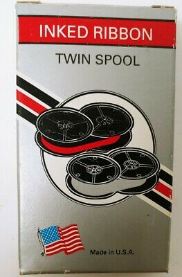 Royal Typewriter Ribbon Black And Red Ink Twin Spool