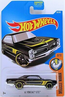 2017 Hot Wheels - Muscle Mania -'67 Pontiac GTO - Black - #8/10 - #69/365