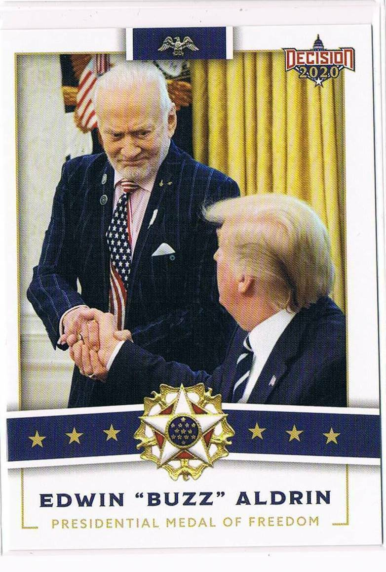 2020 Decision BUZZ ALDRIN Presidential Medal Of Freedom Insert SP PMOF BC - $0.99