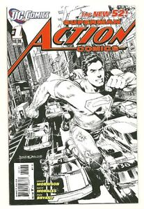 ACTION COMICS #1 B&W 1:200 Sketch Variant NM- (9.2) *NEW DC 52*