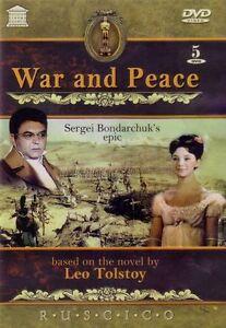 War and Peace-Sergei Bondarchuk's 5 DVD NTSC  Language.Russian, English, French