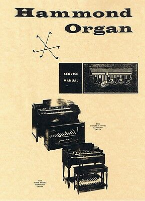 Hammond Organ Service Manuals B3 C3 A B BC RT D G BV CV LESLIE Schematic Layouts for sale  Canada