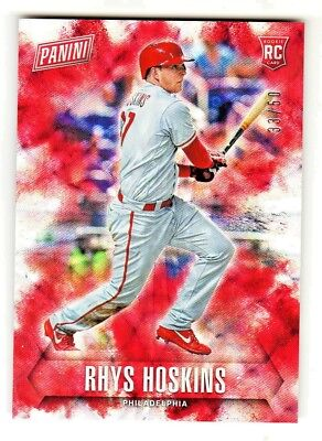 Fathers Day Frames (2018 Panini Fathers Day FUTURE FRAMES FOIL RHYS HOSKINS RC Rookie 33/50)