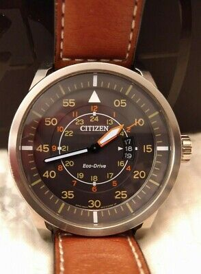CITIZEN AW1361-10H Eco-Drive Aviator Pilot Watch