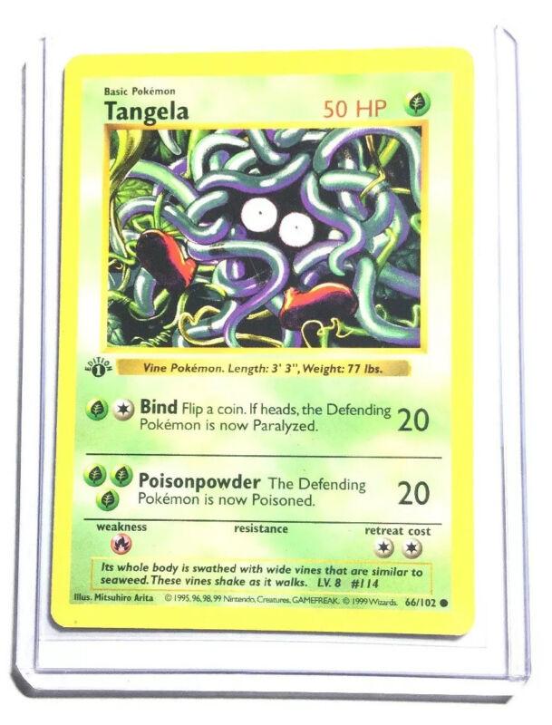 66//102 Pokemon Card From Base Set Common Card Tangela
