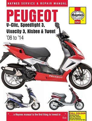 Peugeot V-Clic Speedfight 3 Vivacity 3 Kisbee Tweet 2008-2014 Haynes Manual 5751