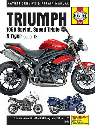 Triumph 1050 Sprint ST Speed Triple Tiger 2005-2013 Haynes Manual 4796 NEW