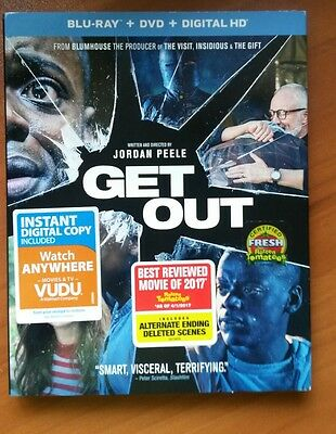 Get Out  Blu Ray Dvd  2017  2 Disc Set  Inc Digitalcopyultraviolet Free Shipping