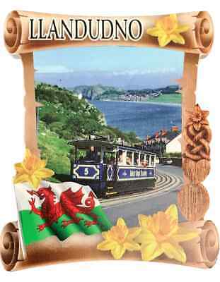 Llandudno Gran Orme Tranvía Rollo Welsh Recuerdo Imán de Nevera