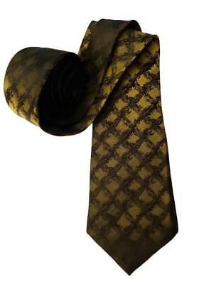 1960s – 70s Men's Ties | Skinny Ties, Slim Ties Vintage 1960s Silk Tie Black Golden Olive Men's $18.00 AT vintagedancer.com