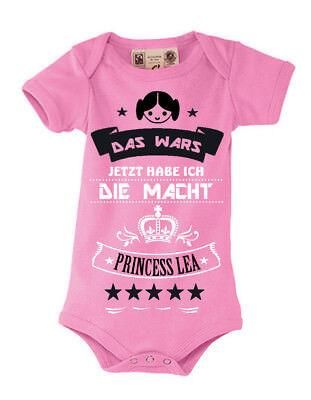 Baby Body Shirt Bodysuit Kinder Strampler Princess Lea Leia pink Das wars Star