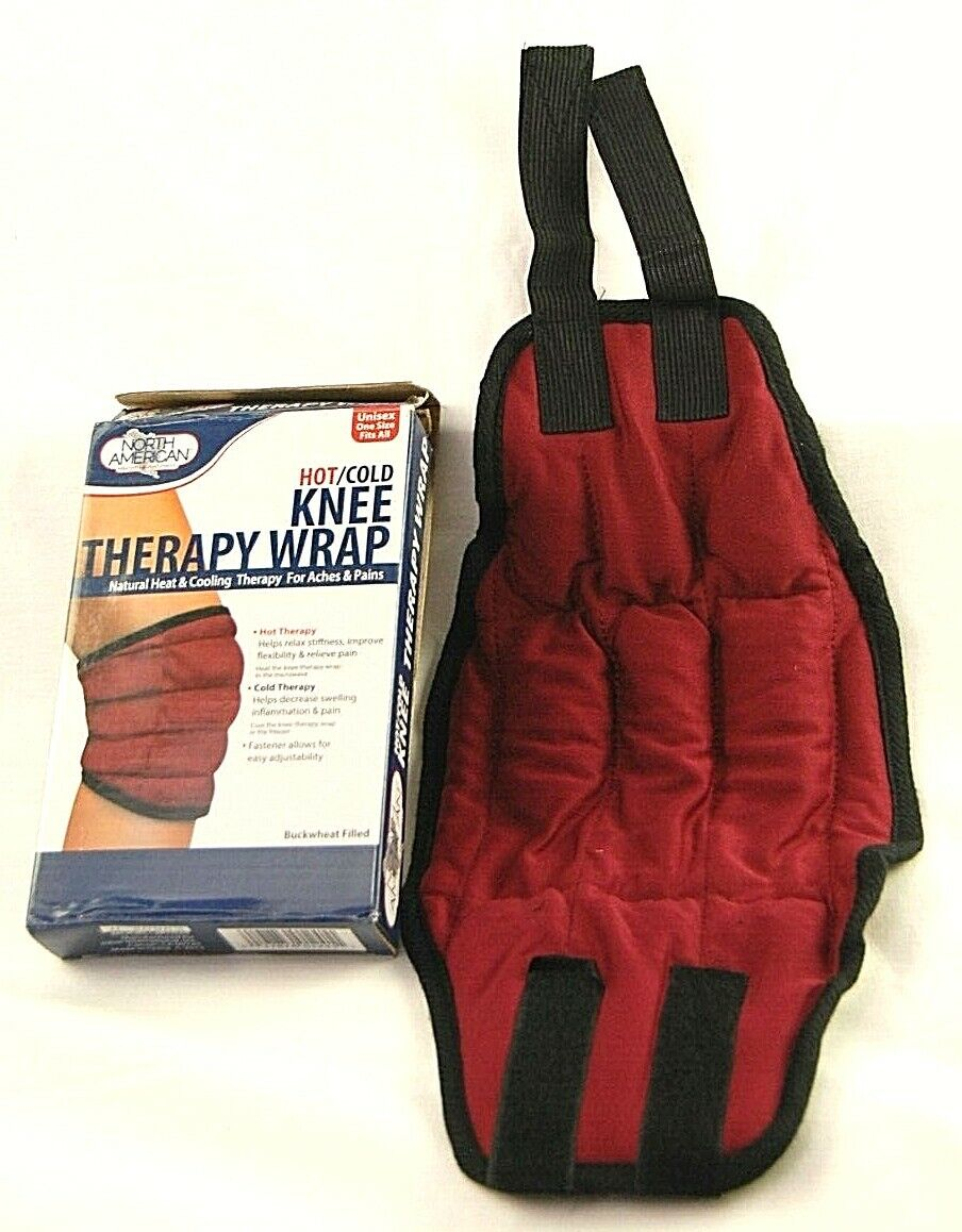 Knee Therapy Wrap Hot Cold Aches Pains Universal Support Adjustable Therapeutic Cold & Hot Packs & Wraps