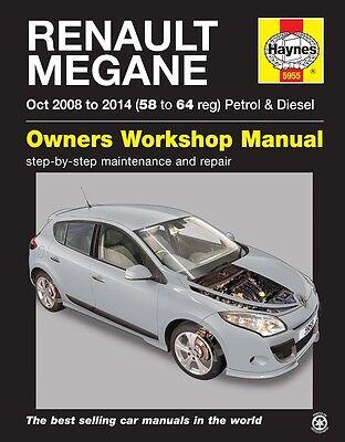 Haynes Manual 5955 Renault Megane 1.6 Petrol & 1.5 Diesel Oct 2008 - 2014 NEW