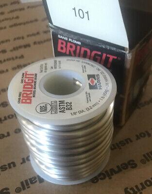 New Silver Nickel Bearing Solder 1 Lb Spool 18 Harris Bridgit Lead Free