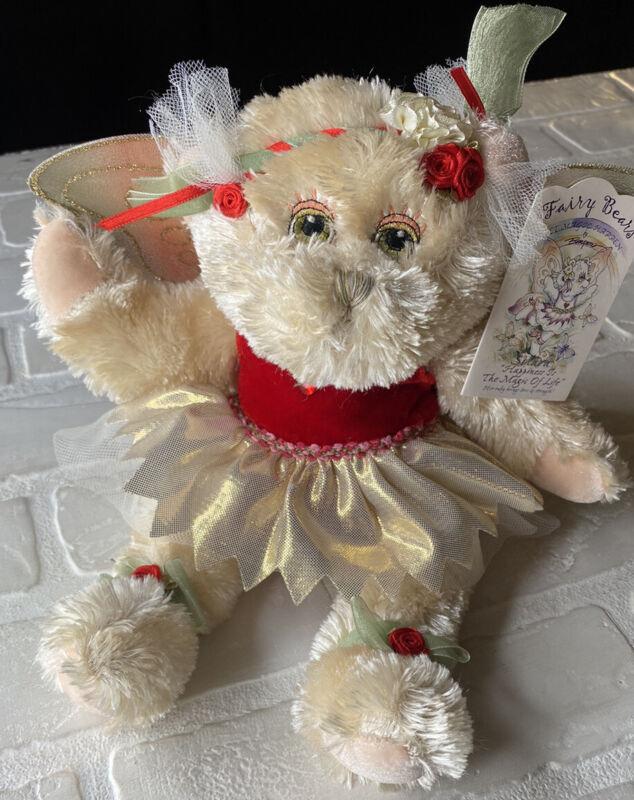 SOLARA Fiesta Fairy Plush Bear - RUBY (JULY) Happiness - NEW w/tags