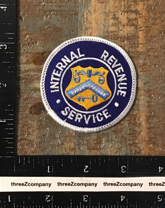 Vintage INTERNAL REVENUE SERVICE Government IRS Logo Patch