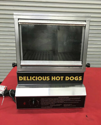 Hot Dog Steamer Bun Warmer Glass Display Gold Medal Nsf 8150 8086 Commercial Ul