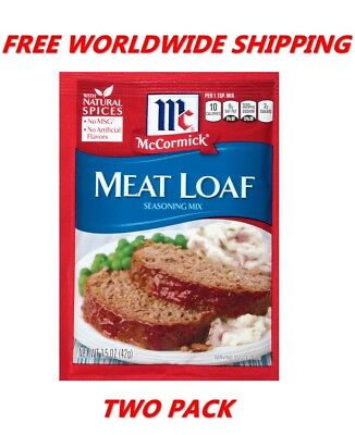 Mccormick Meat Loaf Seasoning Mix 1 5 Oz Pack Of Twoo Free Worldwide Shipping