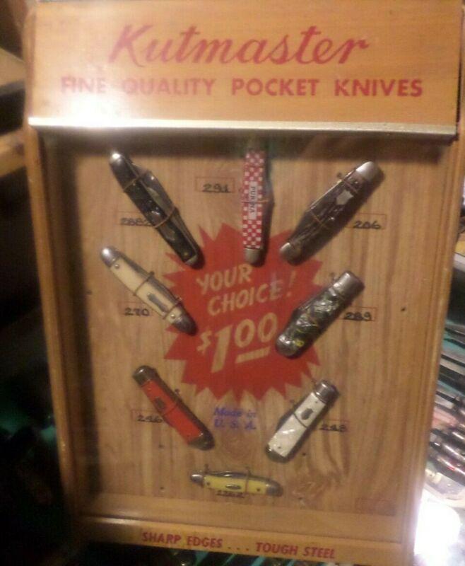 VINTAGE KUTMASTER KNIFE COUNTERTOP DISPLAY