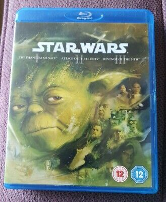 Star Wars Prequel Trilogy Blu-Ray 3-Disc Set Box Set Phantom Menace