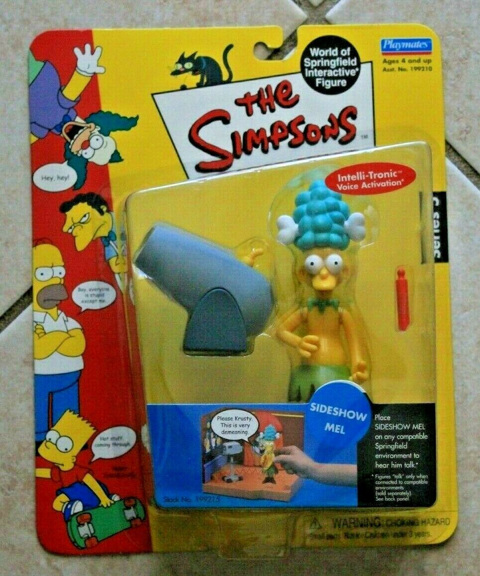 PLAYMATES THE SIMPSONS WORLD OF SPRINGFIELD SERIES 5 SIDESHOW MEL FIGURE - $6.99
