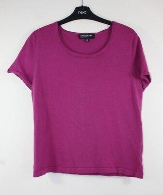 Women's Size 12 Petite, Jones New York, Fuchsia Crew Neck Short Sleeve T-shirt