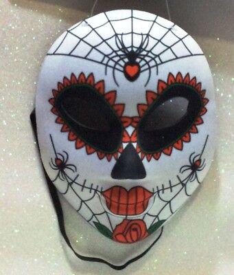 CARNEVALE HALLOWEEN MASCHERA SANTA MUERTE MASK MESSICANA MEXICO C - Santa Muerte Halloween Mask