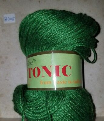 SKEIN/BALL OF JOJOLAND TONIC YARN ~ COLOR #AW260 GREEN