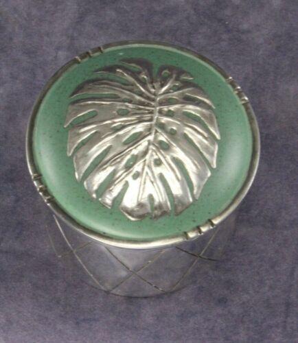 Los Castillo Taxco Trinket Box with Emilia Castillo Anthurium Leaf, Silver Plate