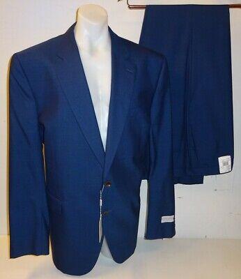 "NEW Jack Victor Mens Blue Wool Mens Suit Jacket 50L Long & Trousers 45"" RRP £960"