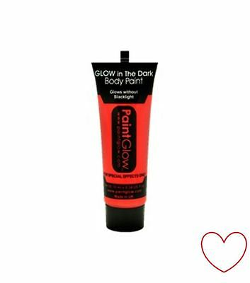face body paint party glow in dark neon make up festival club AC1A06 red - Face In A Face Halloween Makeup