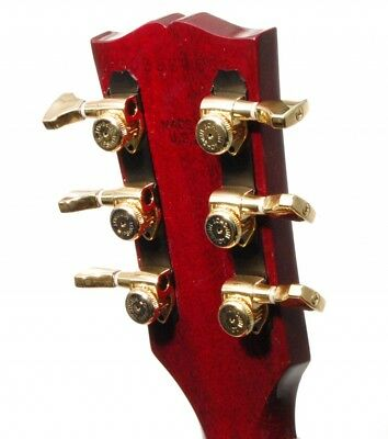 Hipshot GOLD 3+3 GripLock Open-Gear Locking Guitar Machines 3x3 Tuners w/UMP Kit