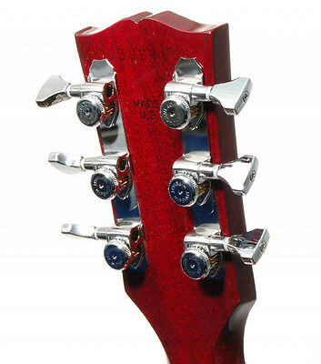 Hipshot Chrome 3+3 GripLock Open-Gear Locking Guitar Machines 3x3 Tuners w/ UMP