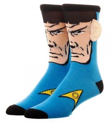 Star Trek Spock With Ears Adult Size Crew Socks