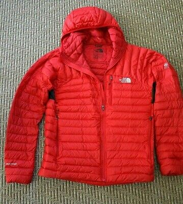North Face Men's 800 Pro Summit Series Hoodie Nylon Down Jacket Sz M Red