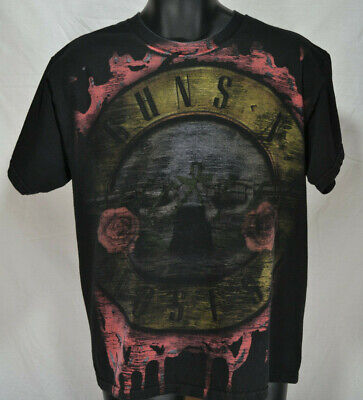 GUNS AND ROSES T SHIRT BRAVADO 2008 All Over Graphic Large
