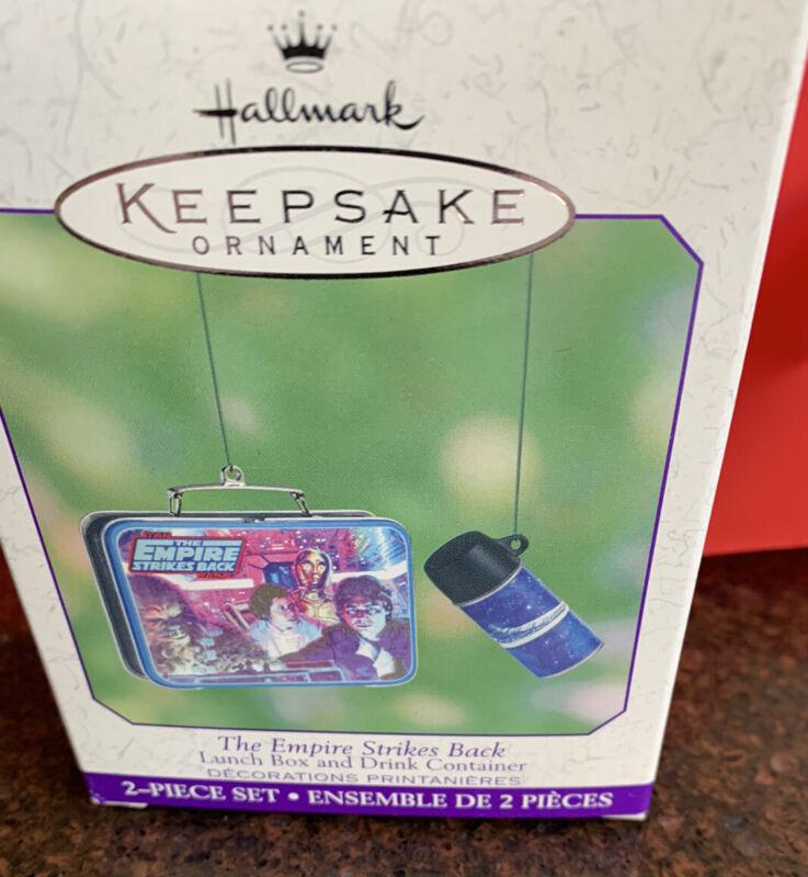 Hallmark Keepsake Ornament The Empire Strikes Back Lunch Box & Drink 2 Pcs 2001