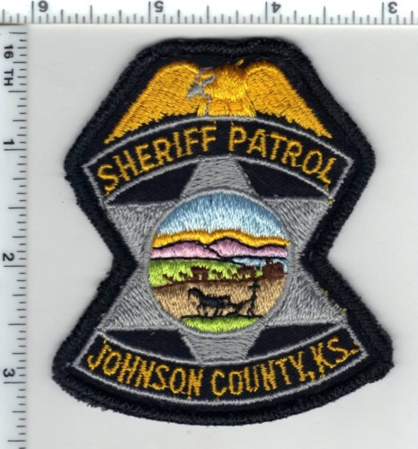 Johnson County Sheriff Patrol (Kansas) Uniform Take-Off Patch from Early 1980
