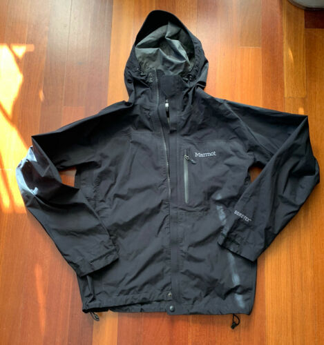 Marmot Men's Minimalist Gore Tex Black Rain Shell Jacket Siz
