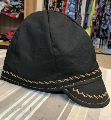 Wendys Welding Hat Made With Black And Gold Stitching New