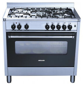 Heller 900mm Freestanding Electric Oven With Gas Hob HGH90S - NEW!