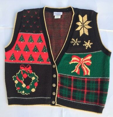 Mens Christmas Vests - Ugly Christmas Sweater Vest Women M Men S TACKY