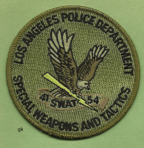 LOS ANGELES  SWAT POLICE SWAT SHOULDER PATCH SUBDUED (green)