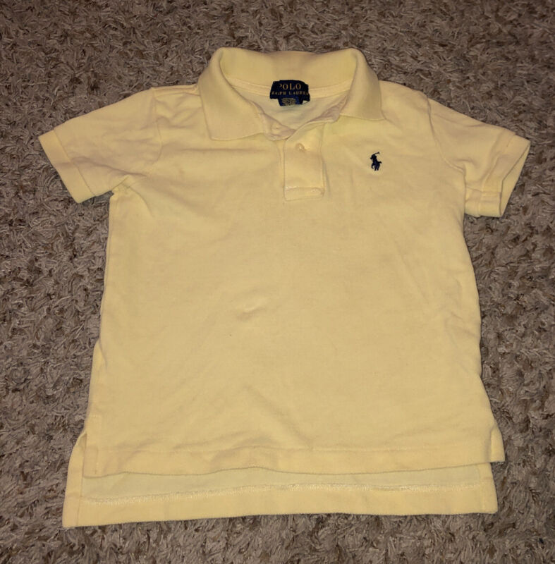 Polo Ralph Lauren Polo~ Boys Shirt Polo Toddler~ Size 3T ~Yellow Cotton VG USED