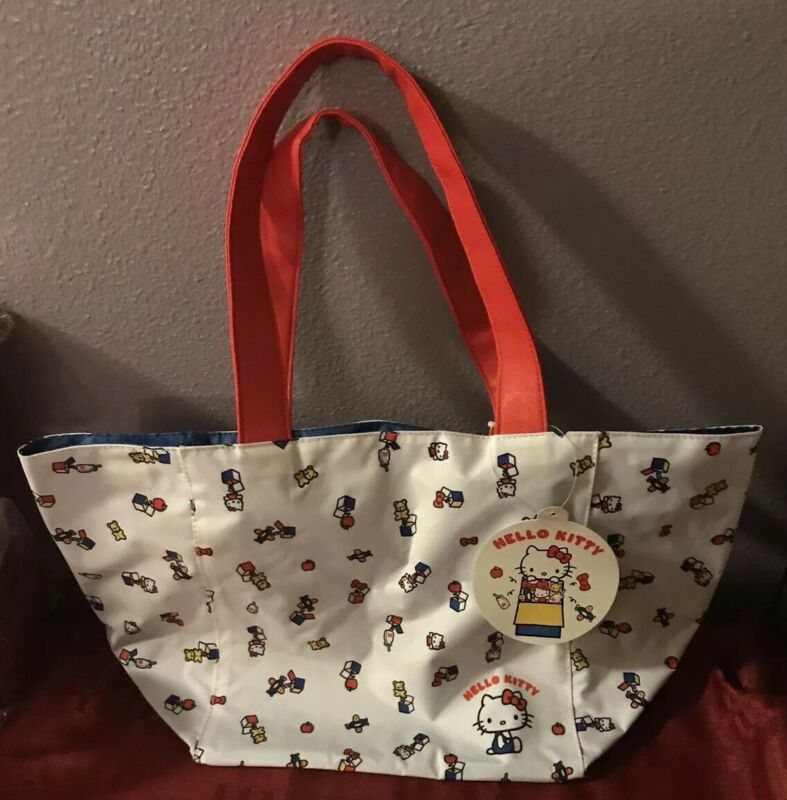 Hello Kitty 45th Anniversary Limited Tote Bag White Sanrio NEW