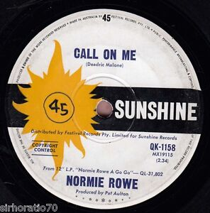 NORMIE-ROWE-Call-On-Me-Tell-Him-Im-Not-Home-1966-OZ-45-Garage